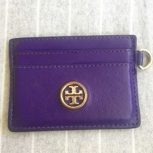 Tory Burch Robinson Saffiano Leather Card Case